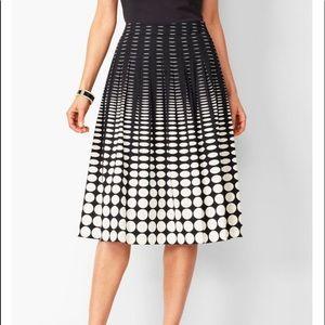 NWT! Talbots Geo Print Pleated Full Skirt !!!